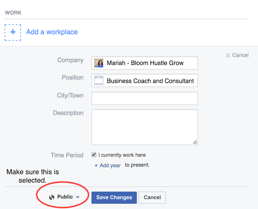 Adding Your Facebook Business Page To Your Profile