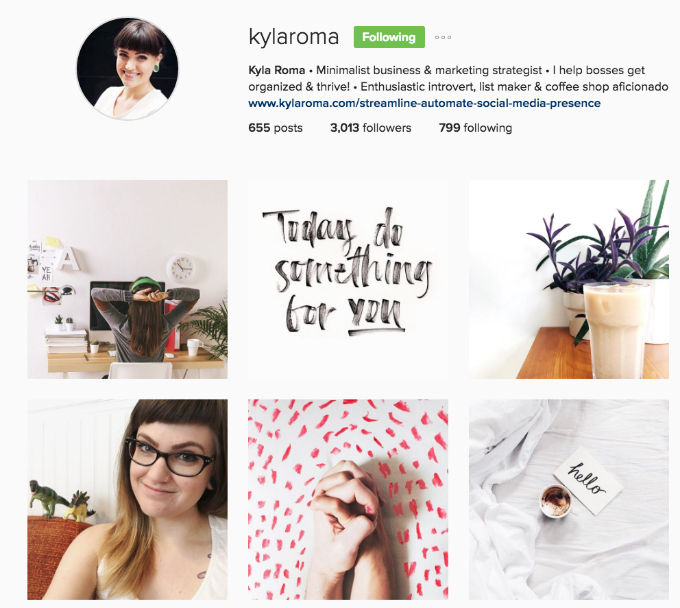 Kyla Roma Minimalist Business & Marketing Strategist
