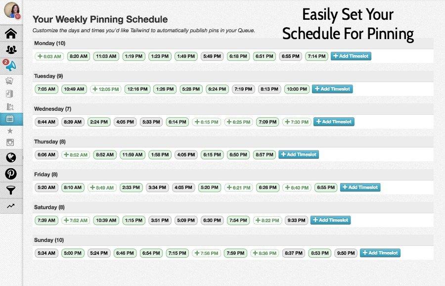 Pinning Schedule