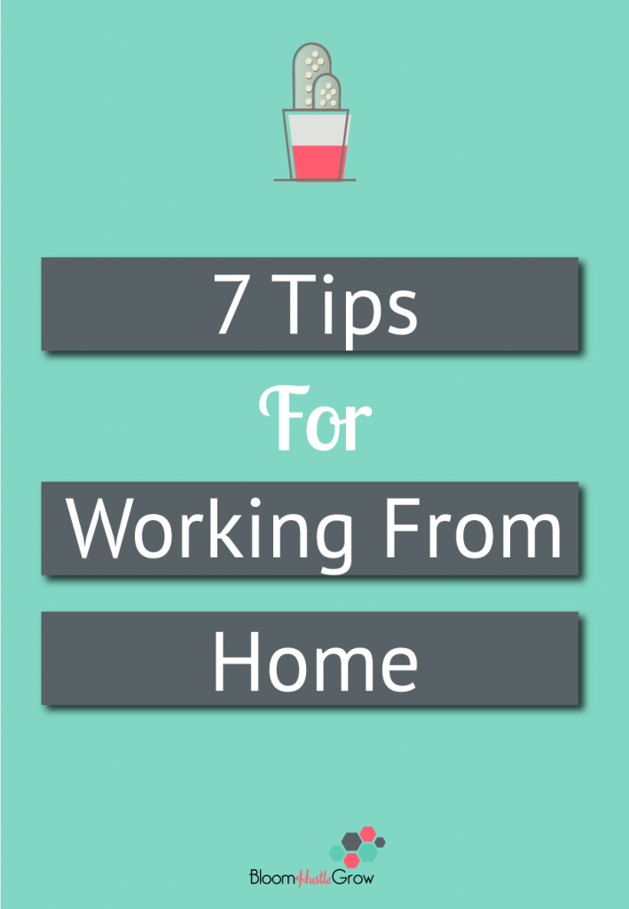 7 Tips to make working from home more productive. Sometimes it's harder than you think until you become your own boss.