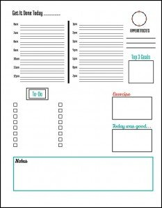 Free Daily Planner Page