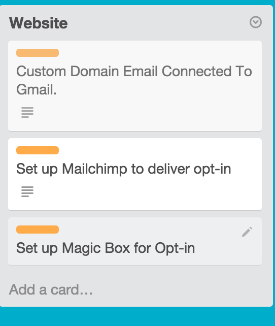 Cards Created Under Lists in Trello