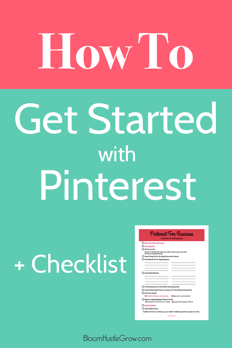 How to get started with Pinterest with checklist
