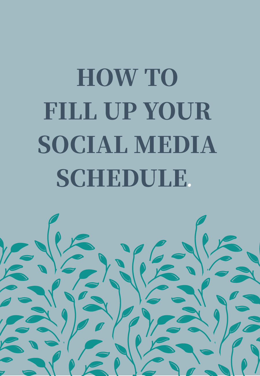How To Fill Up Your Social Media Schedule: What to share and smart ways to curate content for your audience that will save you time. Plus workbook to get you started on planning your social media strategy.