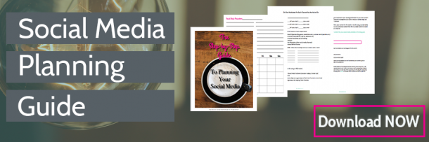 Get The Social Media Planning Guide to help you craft a social media strategy to build your audience and grow your business