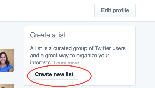 Create A List Button