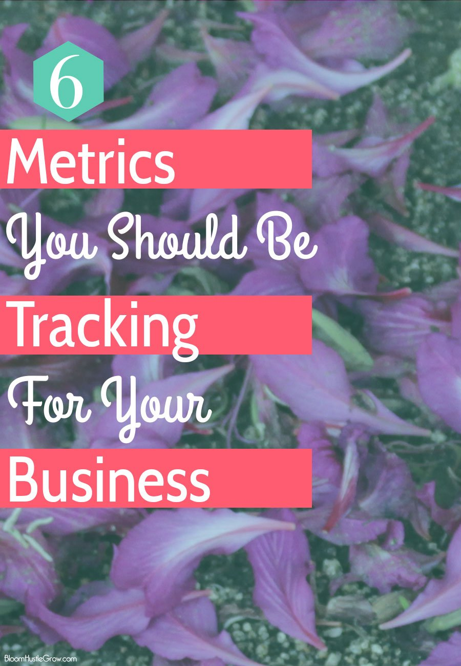 6 metrics you should be tracking in your business. You want to make sure your efforts are effective, and your time is being well spent.