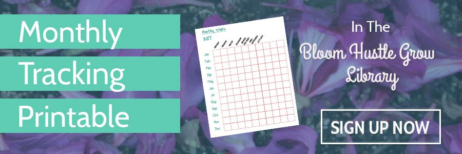 Get the monthly tracking printable in the BHG library