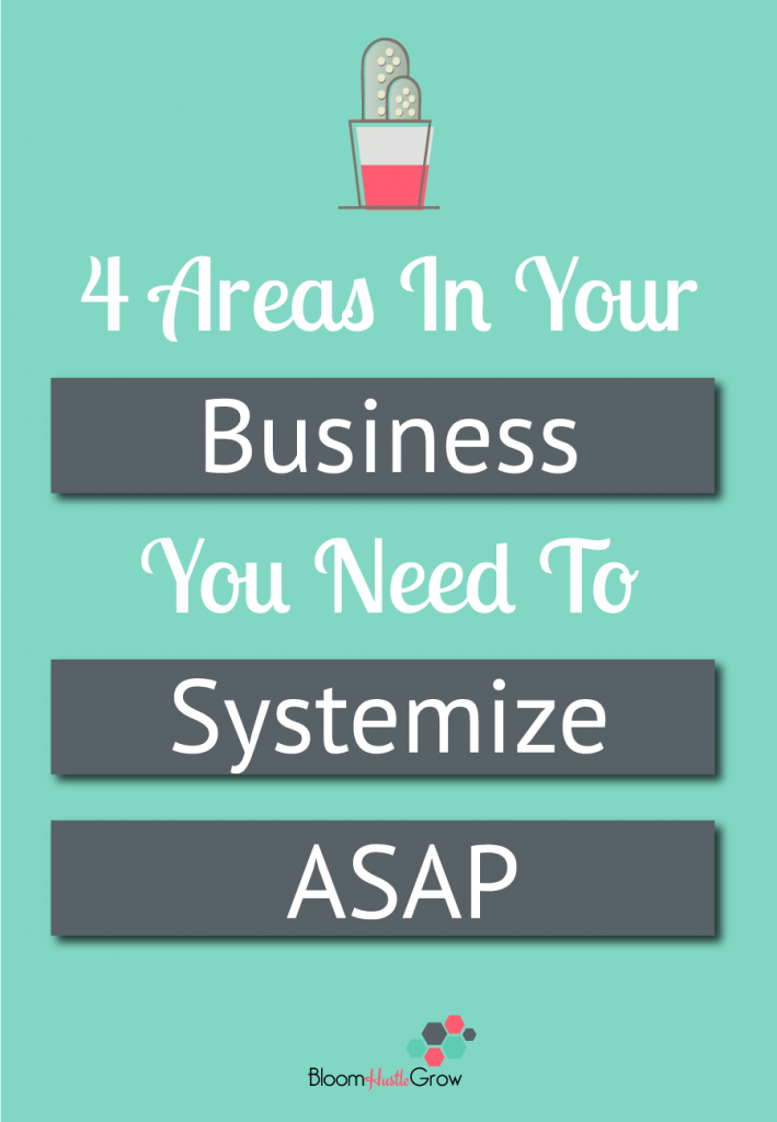 4 Areas In Your Business You Need to Systemize ASAP