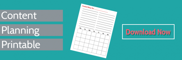 Content Planning Printable Download