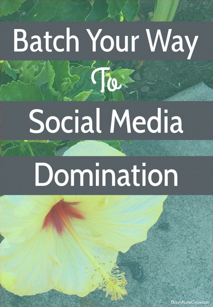 How I Use Batching To Fill Up My Social Media Schedule