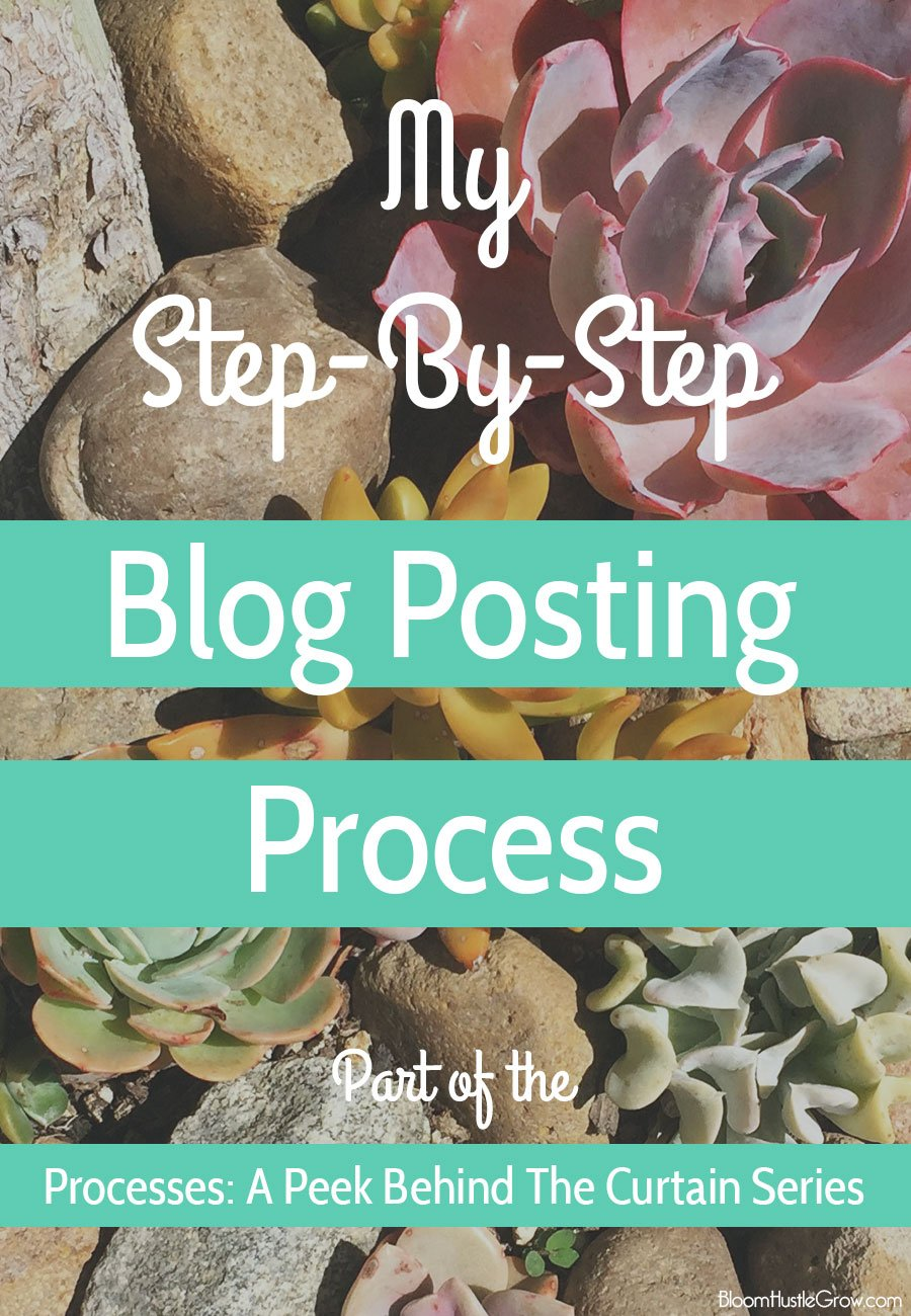 My step-by-step blog posting process plus tips to creating your own