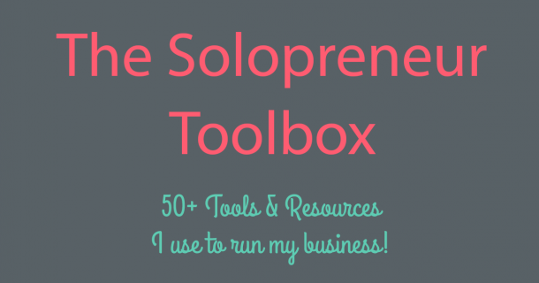 Solopreneur Toolbox: 50+ tools and learning resources for the small business owner.