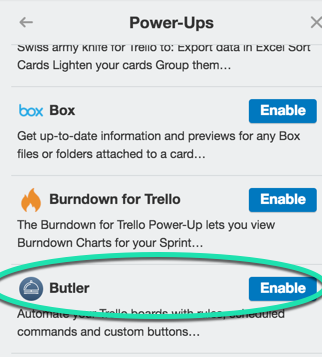Butler Power-Up