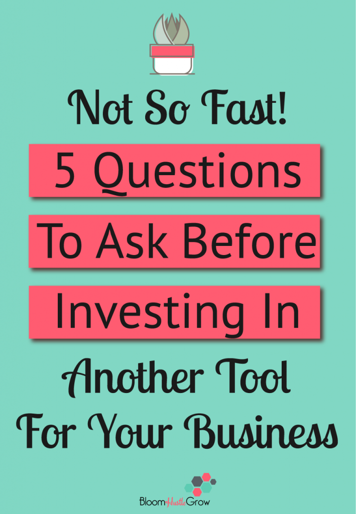 Investing In Tools For Your Business: What You Need To Consider #businesstools #bloomhustlegrow #businesstips #toolsofthetrade