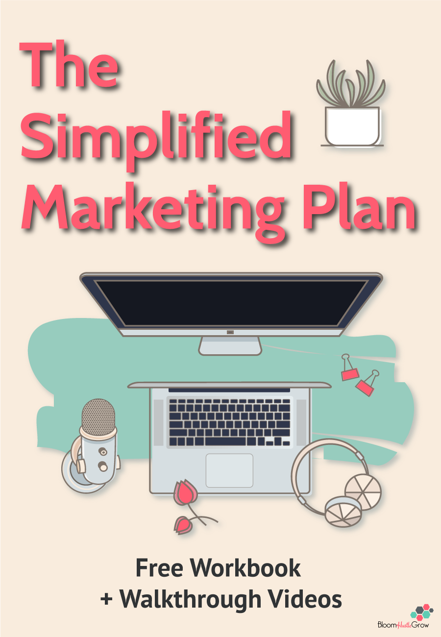 Get The Simplified Marketing Plan to cut the overwhelm and get a plan in place that will keep you focused.