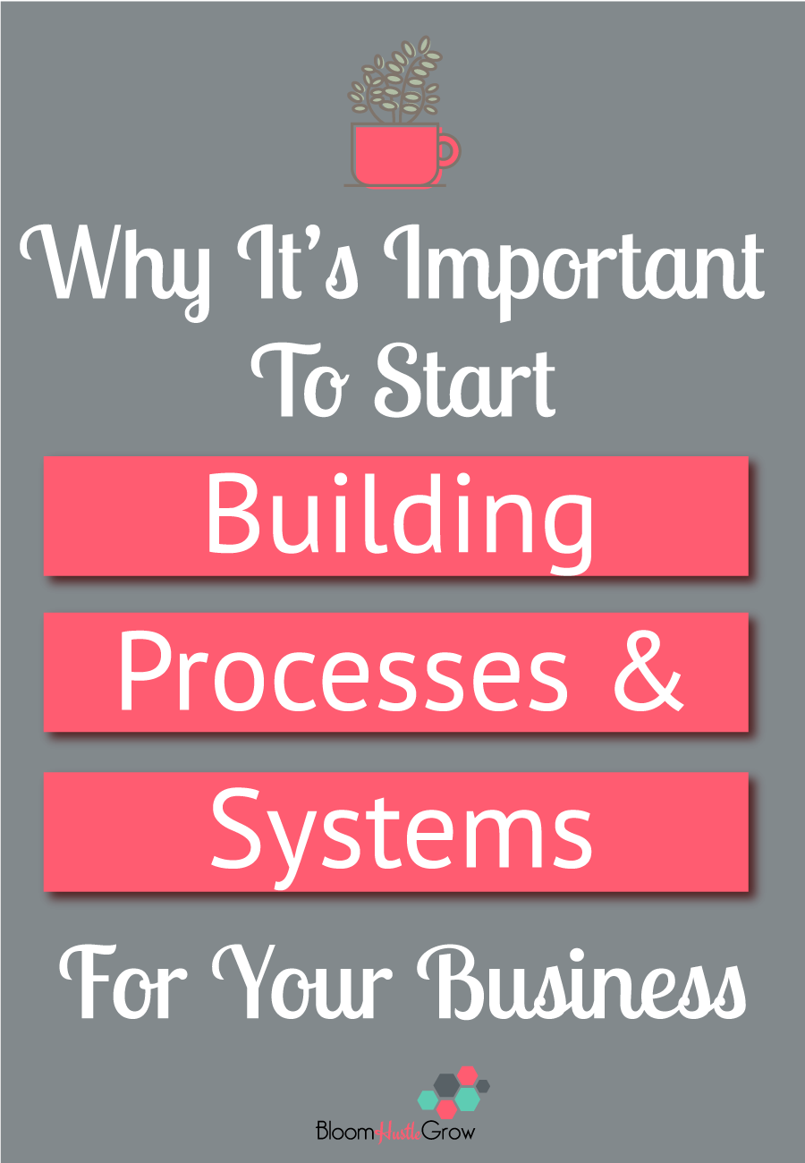 Why It's Important to Start Building Processes & Systems For Your Business #bloomhustlegrow #business101 #businesshowto