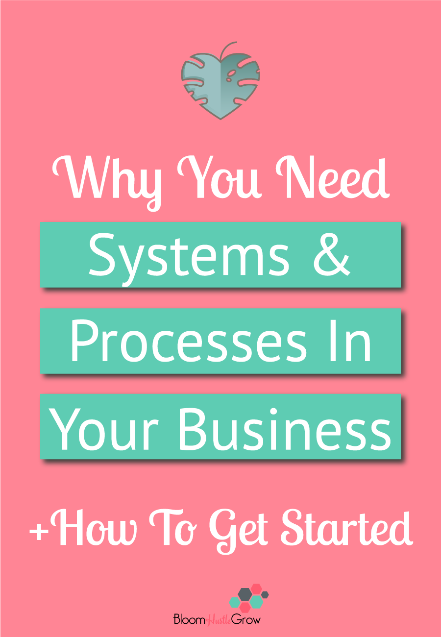 Why It's Important to Start Building Processes & Systems For Your Business #bloomhustlegrow #business101 #startyourbusiness